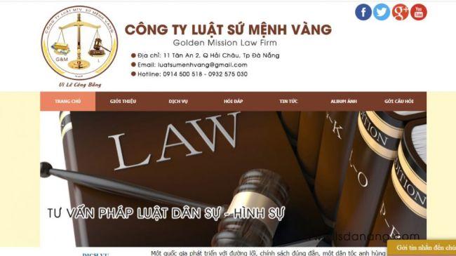 Công ty luật uy tín Đà Nẵng Sứ mệnh vàng