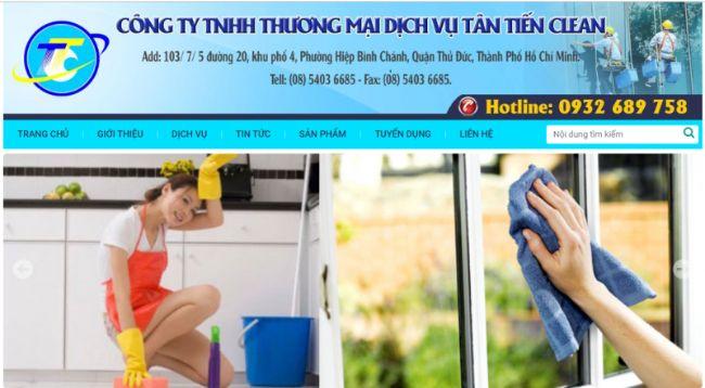 Công ty dịch vụ vệ sinh tại TPHCM Tân Tiến